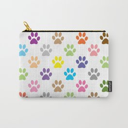 Colorful puppy paw prints pattern Carry-All Pouch
