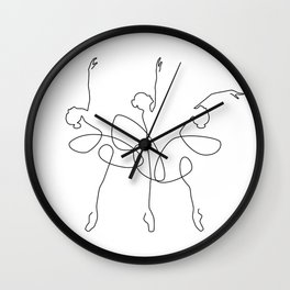 Ballet x 3 Wall Clock