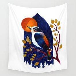 Window Bird Wall Tapestry