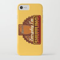 magic the gathering iPhone & iPod Cases featuring Everyday I'm Shuffling (No Dice Version)  |  Magic The Gathering by Silvio Ledbetter
