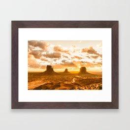 Southwest Wanderlust - Monument Valley Sunrise Nature Photography Framed Art Print