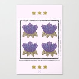 Flower Maze Quad Canvas Print