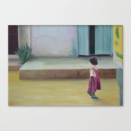 African Girl Canvas Print