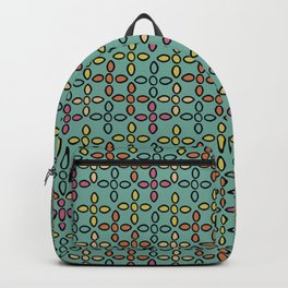 Geo Floral Multi-color Backpack