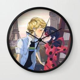 Ladrien nose kiss Wall Clock