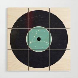 Vinyl Record Star Sign Art | Pisces Wood Wall Art