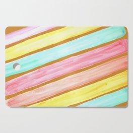 Retro Watercolor Stripes  Cutting Board