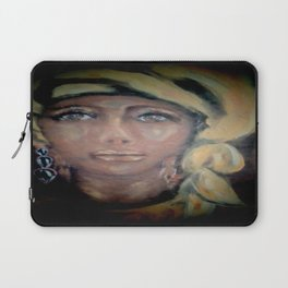 Lady in a Yellow Scarf Laptop Sleeve