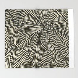Black and Ivory Triangles Throw Blanket