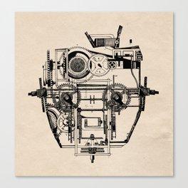 Clockhead Canvas Print