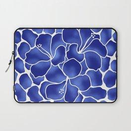 Hibiscus Animal: China Blue Laptop Sleeve