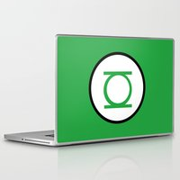 green lantern Laptop & iPad Skins featuring Green Lantern Symbol by Whimsy Notions Designs