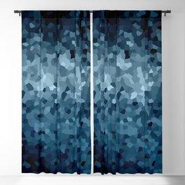 Blue Cristals Blackout Curtain