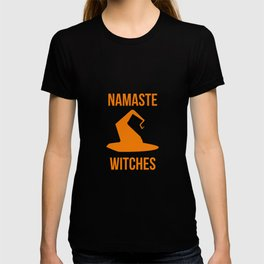 Namaste Witches Halloween Fly On A Broom T-shirt