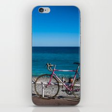 Beach and the bike - Nice, France summer iPhone & iPod Skin