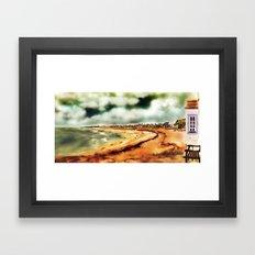 Elie Shorefront [Digital Landscape and Architecture Illustration] Scottish Seaside Towns Framed Art Print