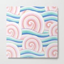 Pastel Auspicious Waves Metal Print