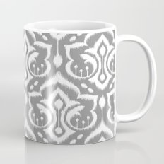 Ikat Damask Gray Mug