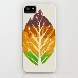 Leaf Cycle iPhone Case