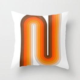 70's Geometric Design Print Throw Pillow