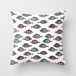 fish texture Throw Pillow