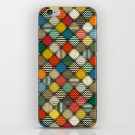 buttoned patches retro iPhone Skin