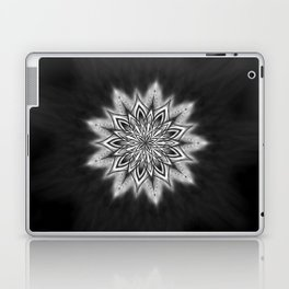 Black Ice Mandala Swirl Laptop & iPad Skin
