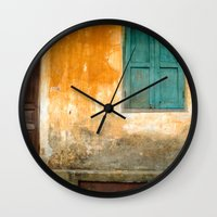 vietnam Wall Clocks featuring Antique Chinese Wall - VIETNAM by CAPTAINSILVA