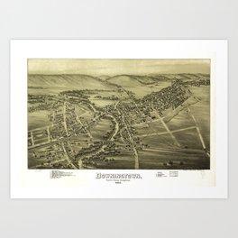 Aerial View of Downington, Pennsylvania (1893) Art Print