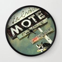 La Crescenta Vintage Motel Sign Wall Clock