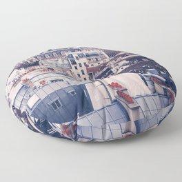 Paris Rooftops Reprise Floor Pillow