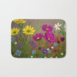 Spring Wild flowers  Bath Mat