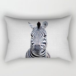 Zebra - Colorful Rectangular Pillow