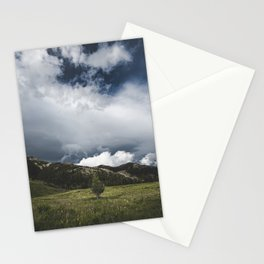 Landsape Waterton Meadow and Rolling Hills   Nature   Skyscape Clouds Stationery Cards