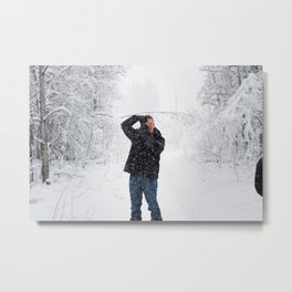 Snowy Sunday Metal Print