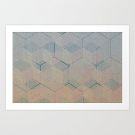Multi-dimensional cubes Art Print