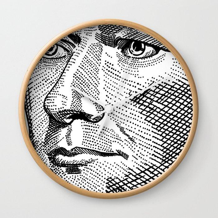 Hamilton wall clock Weight Society6 Alexander Hamilton Wall Clock By Alphavariable Society6