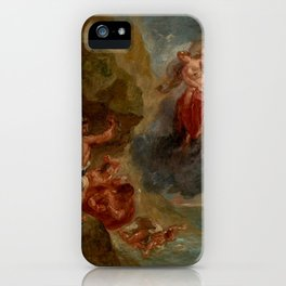 "Eugène Delacroix ""Winter from a series of the Four Seasons (Juno and Aeolus)"" iPhone Case"