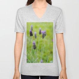 Lavender season Unisex V-Neck