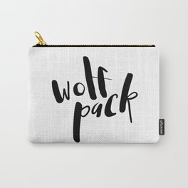 Wolf Pack Typography Carry-All Pouch