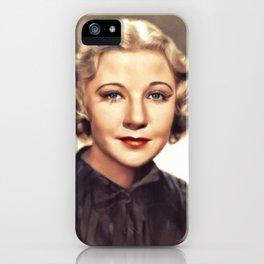 Una Merkel, Vintage Actress iPhone Case