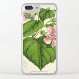 Vintage Botanical Floral Flower Plant Scientific Clear iPhone Case