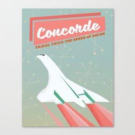 Concorde vintage travel poser Canvas Print