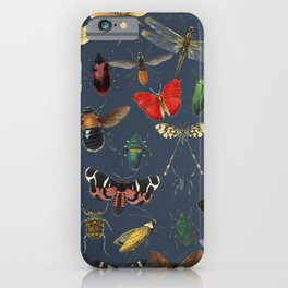 Lovely Butterfly Blue iPhone Case