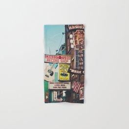 Lower Broadway, Nashville print  Hand & Bath Towel