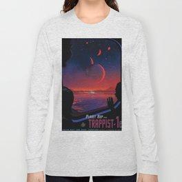 NASA Retro Space Travel Poster #13 - TRAPPIST-1e Long Sleeve T-shirt
