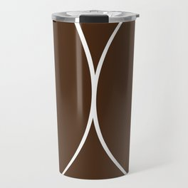 Boobs - Dark Brown Travel Mug