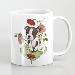 Boston Terrier Puppy Bouquet Coffee Mug