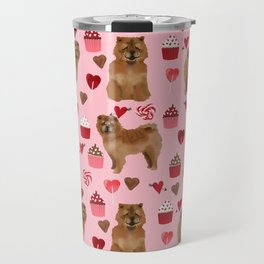 Chow Chow dog breed pure breed valentines day cupcakes love pet gifts must have doggo pupper lovers Travel Mug