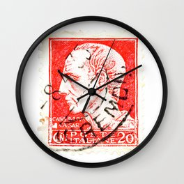 Ceasar Stamp Wall Clock